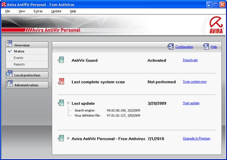 Avira AntiVir Personal Free Antivirus 10 2