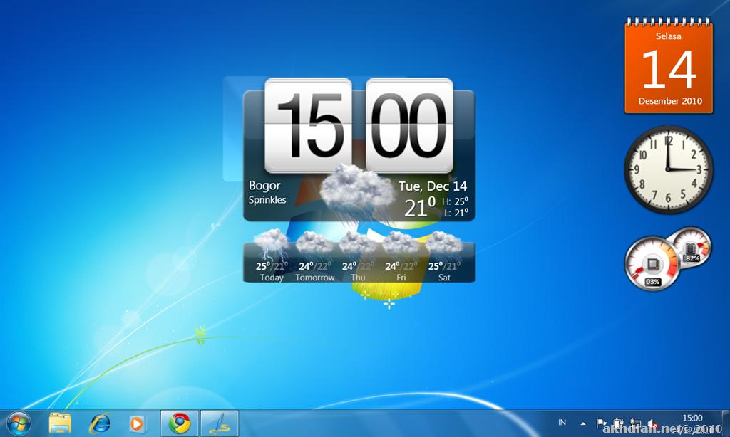 HTC Home   Animasi Widget Cuaca dan Jam Pada Desktop Anda  8315cc0a70