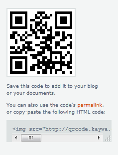 Hasil kode QR