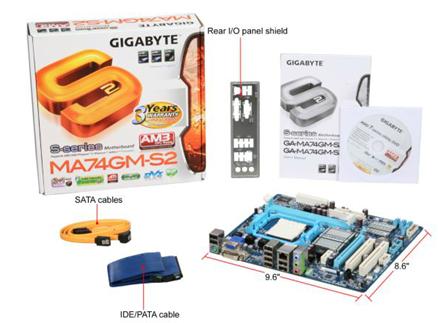 Motherboard GIGABYTE GA-MA74GM-S2
