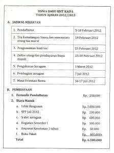 info jadwal dan biaya