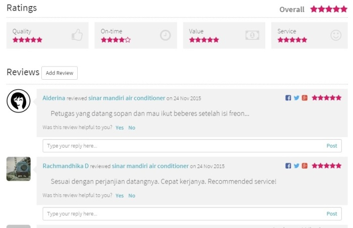 rating sejasa